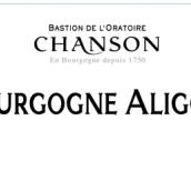 香颂勃艮第阿里高特干白葡萄酒(Chanson Pere&Fils Bourgogne Aligote,Saone et Loire,France)