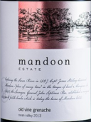 曼顿老藤歌海娜干红葡萄酒(Mandoon Estate Old Vine Grenache,Perth Hill,Australia)