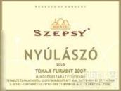 赛普斯纽拉佐干白葡萄酒(Szepsy Nyulaszo,Tokaj,Hungary)