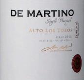 德马丁诺单一园多罗斯西拉干红葡萄酒(De Martino Single Vineyard Alto Los Toros Syrah,Elqui Valley...)