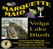 鹰陆马奎特少女伏尔加湖桃红葡萄酒(Eagles Landing Winery Marquette Maid Volga Lake Blush, Iwoa, USA)