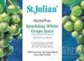 圣朱利安无酒精起泡酒(St. Julian Winery Alcohol Free Sparkling White Grape Juice, Lake Michigan Shore, USA)