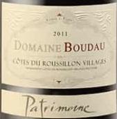 布达乌帕特里蒙尼干红葡萄酒(Domaine Boudau Patrimoine Cotes du Roussillon Villages, Languedoc-Roussillon, France)