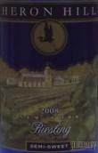 鹭山雷司令半甜干白葡萄酒(Heron Hill Semi Sweet Riesling,Finger Lakes,USA)