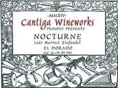 民歌酒庄夜曲晚收仙粉黛甜红葡萄酒(Cantiga Wineworks Nocturne Late Harvest Zinfandel, California, USA)