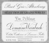 温巴赫灰皮诺粒选贵腐甜白葡萄酒(Domaine Weinbach Pinot Gris Selection de Grains Nobles, Alsace, France)