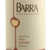 巴拉仙粉黛干红葡萄酒(Barra of Mendocino Zinfandel,Redwood Valley,USA)