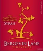 伯格瑞莲娜橡木桶精选珍藏西拉干红葡萄酒(Bergevin Lane Vineyards Barrel Select Reserve Syrah, Columbia Valley, USA)