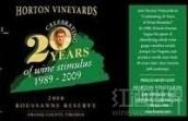 荷顿珍藏瑚珊干红葡萄酒(Horton Vineyards Reserve Roussanne,Virginia,USA)