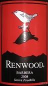 红杉巴贝拉干红葡萄酒(塞拉山脚)(Renwood Barbera,Sierra Foothills,USA)