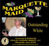 鹰陆马奎特少女优质半干型白葡萄酒(Eagles Landing Winery Marquette Maid Outstanding White,Iwoa,...)