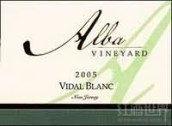 阿尔巴威代尔干白葡萄酒(Alba Vineyard Vidal Blanc, New Jersey, USA)