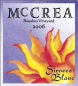 麦克雷热风干白葡萄酒(McCrea Cellars Sirocco Blanc,Yakima Valley,USA)