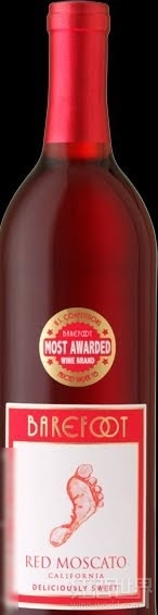 贝尔富特莫斯卡托干红葡萄酒(Barefoot Cellars Red Moscato,California,USA)