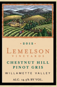 莱默逊酒庄栗树山灰皮诺干白葡萄酒(Lemelson Vineyards Chestnut Hill Pinot Gris,Willamette ...)