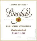 布拉斯菲尔德静园黑皮诺干红葡萄酒(Brassfield Estate Winery High Serenity Ranch Vineyard Pinot Noir, High Valley, USA)