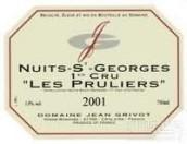 让·格里沃普露利(夜圣乔治一级园)干红葡萄酒(Domaine Jean Grivot Premier Cru Les Pruliers, Cote de Nuits, France)
