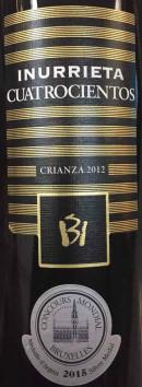 莹瑞黛世纪传奇陈酿干红葡萄酒(Bodegas Inurrieta Cuatrocientos Crianza,Navarra,Spain)