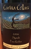龙骨星西拉干红葡萄酒(Carina Cellars Syrah, Santa Barbara, USA)
