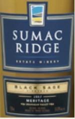 苏马克里奇黑贤园梅里蒂奇干白葡萄酒(Sumac Ridge Estate Black Sage Vineyard Meritage White,...)