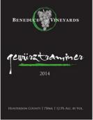 本尼迪斯琼瑶浆干红葡萄酒(Beneduce Vineyards Gewürztraminer, New Jersey, USA)