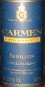 卡门珍藏赛美蓉迟摘甜白葡萄酒(Carmen Reserve Late Harvest Semillon, Maipo Valley, Chile)