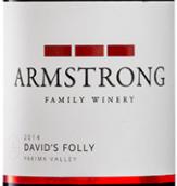 阿姆斯特朗酒庄大卫之荒唐干红葡萄酒(Armstrong Family Winery David's Folly,Yakima Valley,USA)