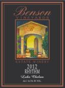 本森韵律干红葡萄酒(Benson Estate Rhythem, Washington, USA)