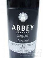 修道院红衣主教赤霞珠干红葡萄酒(Abbey Cellars Cardinal Cabernet Sauvignon, Hawke's Bay, New Zealand)