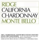 山脊蒙特-贝罗园霞多丽干白葡萄酒(Ridge Monte Bello Chardonnay, Santa Cruz Mountains, USA)