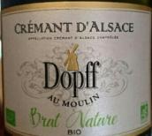 多普磨坊自然比奥极干型起泡酒(Dopff au Moulin Cremant d'Alsace Brut Nature Bio,Alsace,...)