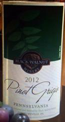 黑胡桃灰皮诺白葡萄酒(Black Walnut Winery Pinot Grigio,Pennsylvania,USA)