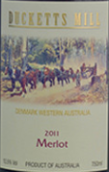 达克特磨坊酒庄梅洛干红葡萄酒(Ducketts Mill Wines Merlot,Denmark,Australia)