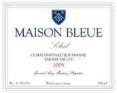 "蓝色""阳光""奥尔森园胡珊干白葡萄酒(Maison Bleue Soleil Olsen Vineyard Roussanne, Yakima Valley, USA)"