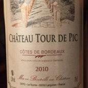 皮克酒庄传统特酿干红葡萄酒(Chateau Tour de Pic Cuvee Tradition,Cotes de Bordeaux,France)
