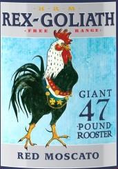 HRM雷克斯歌利亚红色莫斯卡托桃红葡萄酒(HRM Rex Goliath Giant 47 Pound Rooster Red Moscato,...)
