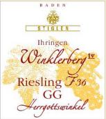 施蒂格勒依瑞恩温克乐堡特级葡萄园家庭圣坛36号桶雷司令迟摘干白葡萄酒(Weingut Stigler Ihringer Winklerberg Riesling F36 Herrgottswinkel GG trocken, Baden, Germany)