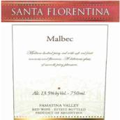 拉里奥哈娜酒庄圣佛罗伦缇娜系列马尔贝克干红葡萄酒(La Riojana Santa Florentina Malbec, Famatina, Argentina)