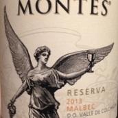 蒙特斯珍藏马尔贝克干红葡萄酒(Montes Reserva Malbec,Colchagua Valley,Chile)