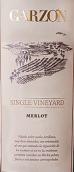 嘉颂酒庄单一园梅洛红葡萄酒(Bodega Garzon Single Vineyard Merlot, Maldonado, Uruguay)