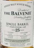 百富25年单桶传统橡木桶陈苏格兰单一麦芽威士忌(The Balvenie Aged 25 Years Single Barrel Traditional Oak ...)