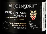 维尔约恩斯开普年份珍藏甜红葡萄酒(Viljoensdrift Cape Vintage Reserve,Robertson,South Africa)