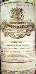 古岱酒庄夫人特酿贵腐甜白葡萄酒(Chateau Coutet Cuvee Madame,Barsac,France)