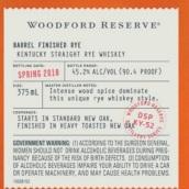 伍德福德珍藏桶陈纯黑麦威士忌(Woodford Reserve Barrel Finished Straight Rye Whiskey,...)