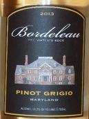 波德罗酒庄灰皮诺干白葡萄酒(Boardeleau Pinot Grigio, Maryland, USA)