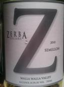 斑马庄园赛美蓉干白葡萄酒(Zerba Cellars Estate Semillon,Walla Walla Valley,USA)