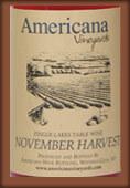 阿美利卡娜11月采摘半甜红葡萄酒(Americana Vineyards November Harvest,New York,USA)