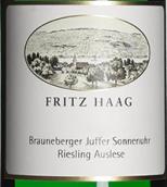 海格布朗伯哲朱弗日晷园金装雷司令精选白葡萄酒(Fritz Haag Brauneberger Juffer Sonnenuhr Riesling Auslese Goldkapsel, Mosel, Germany)