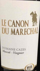 卡哲仕马雷夏尔干白葡萄酒(Domaine Cazes Le Canon du Marechal Muscat-Viognier Blanc,...)