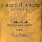 贝希酒庄春山小西拉干红葡萄酒(Behrens&Hitchcock Spring Mountain Petite Sirah,California,...)